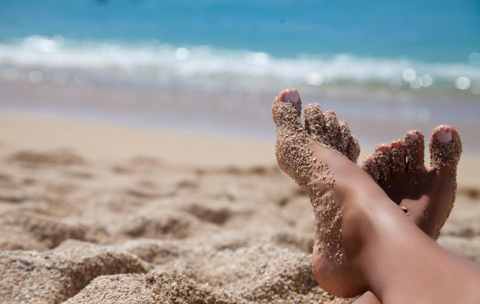 Feet up beach