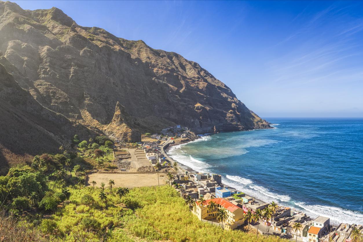 view on Vila das Pombas (Santo Antao, Cape Verde)