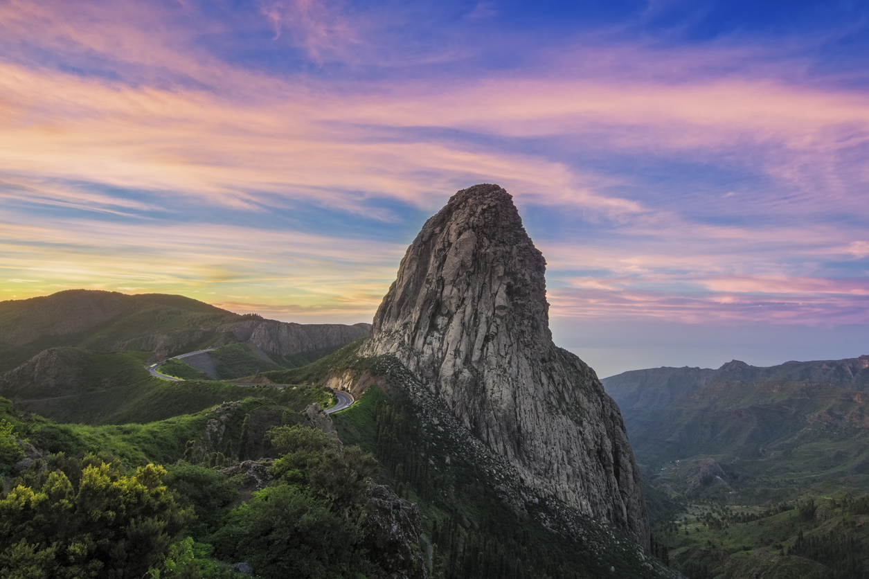High rock at sunrise - Roque Argando