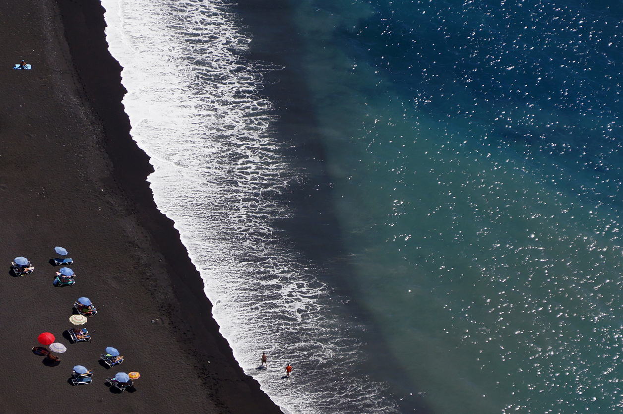 Black sand beaches consist of lava ash
