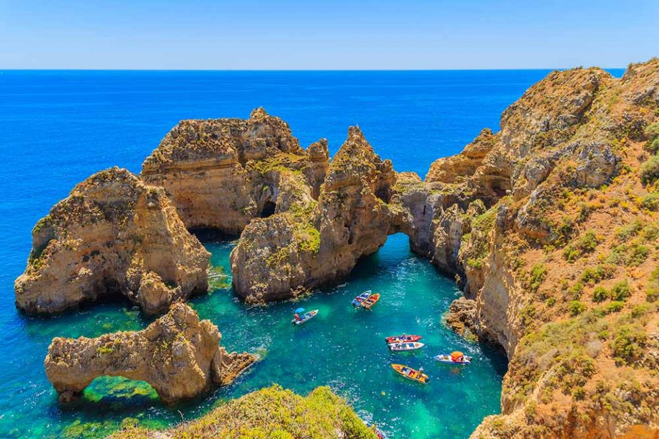 A secluded cove in the Algarve
