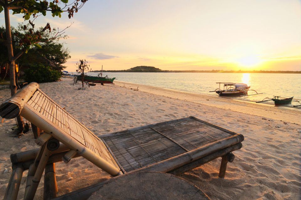 sunset at Gili islands(near to Bali and Lombok), Indonesia