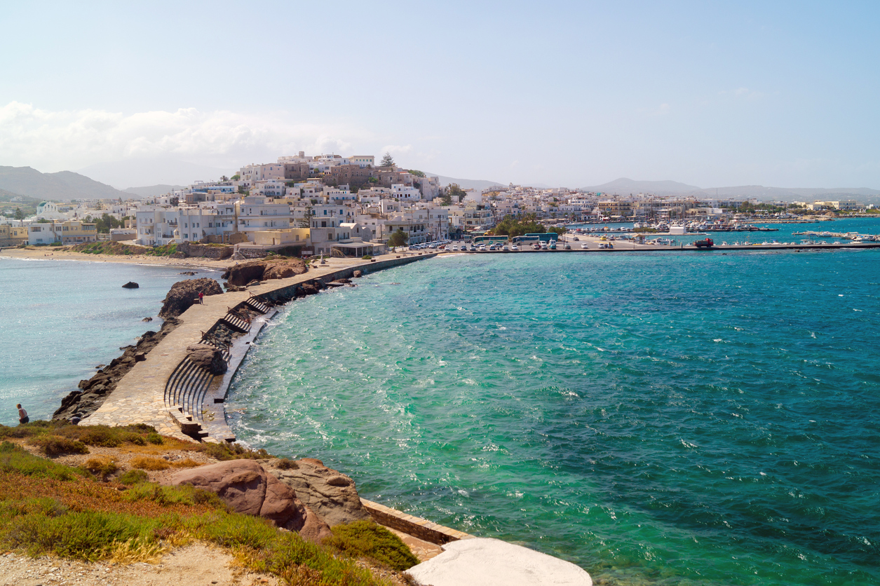 Panoramic view in Naxos island, Cyclades, Greece