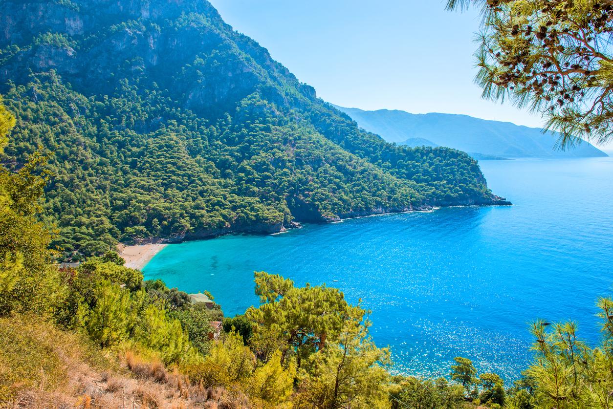 Kabak bay from Oludeniz. Fethiye / Turkey.
