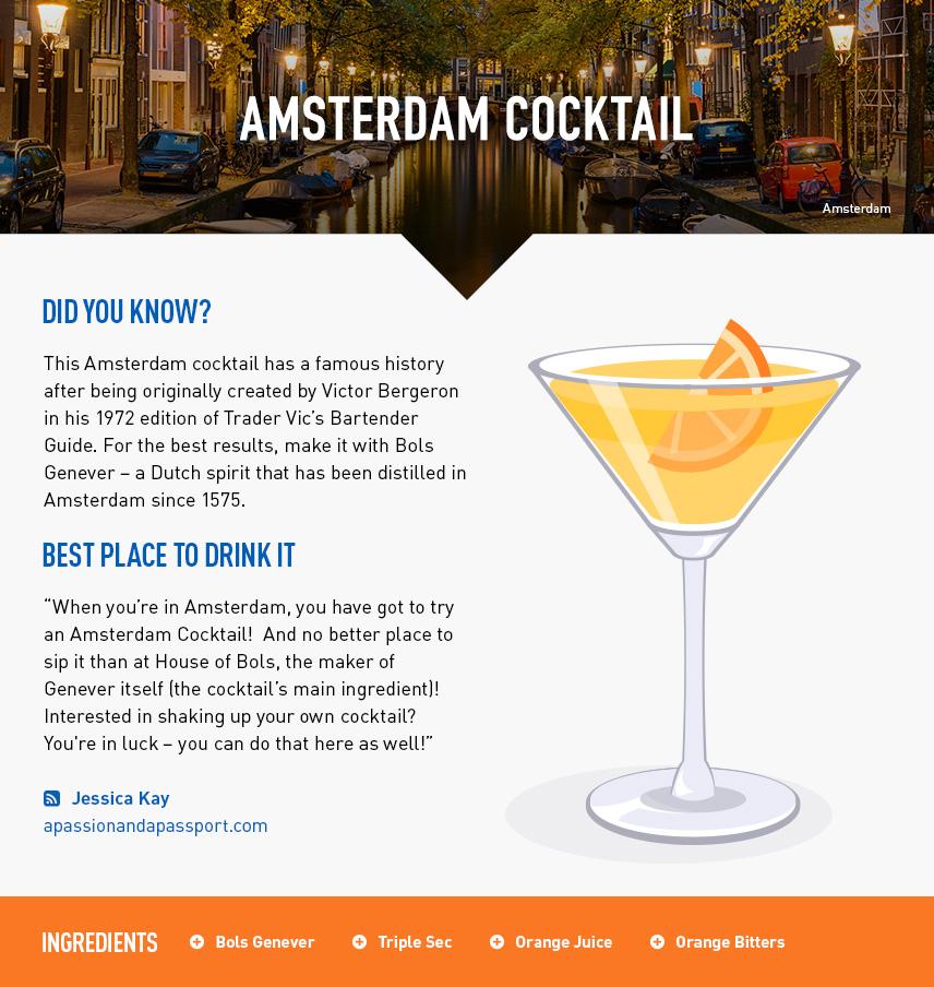 Amsterdam Cocktail - Amsterdam City Break - Netherlands