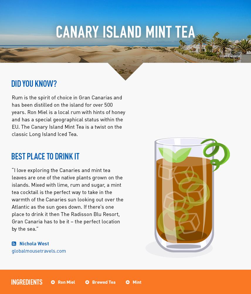 Canary Island Mint Tea - Gran Canaria Beach Holiday - Canary Islands