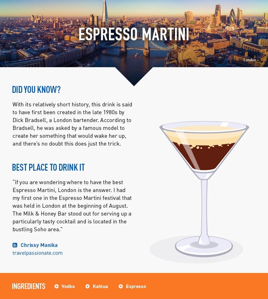 Espresso Martini - London City Break - UK