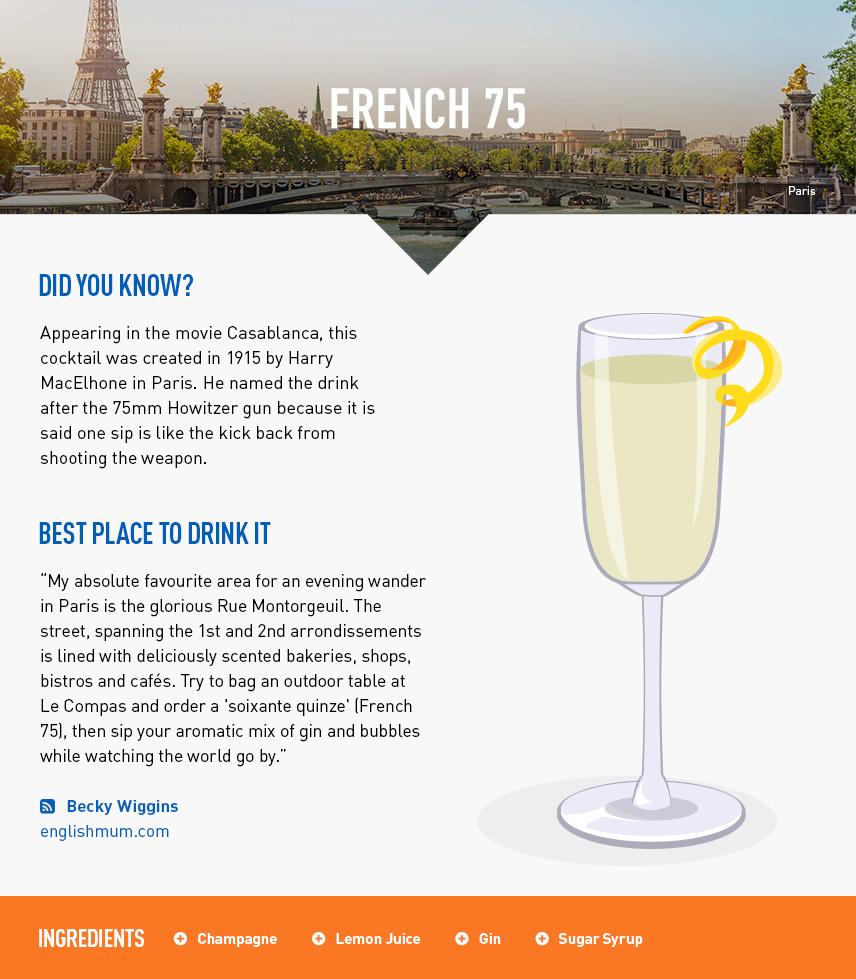 French75 - Paris City Break - France