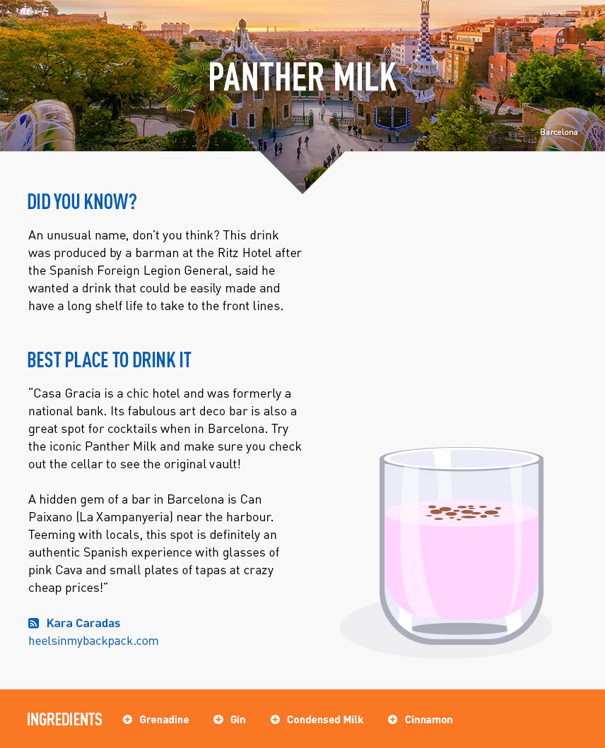 Panther Milk - Barcelona City Break - Spain