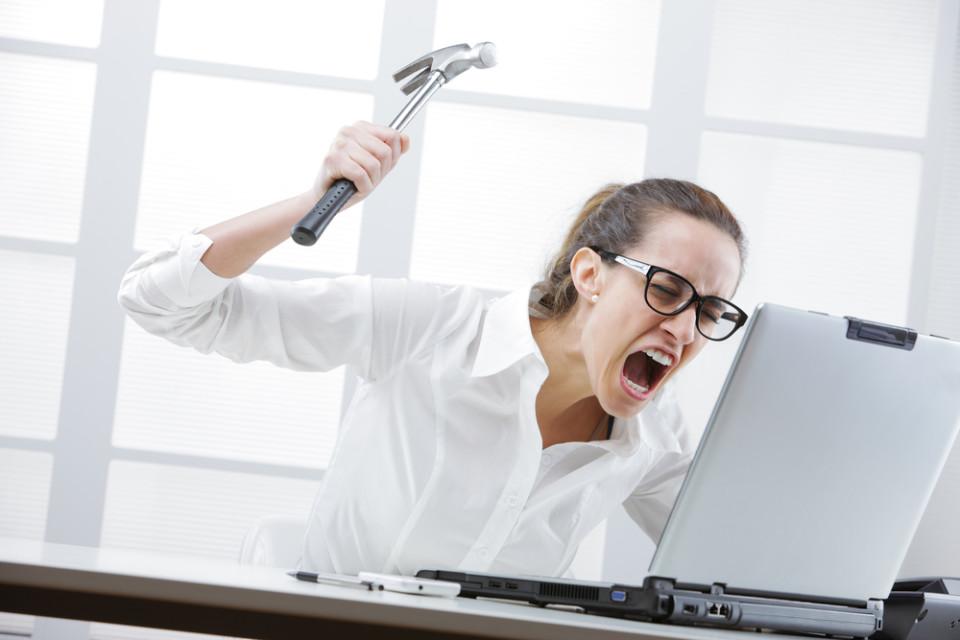 computer smash