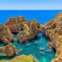 Check out this beach hidden away in the Algarve Blisshellip
