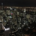 View from Empire State Building at night nyc nyatnight bigcityhellip