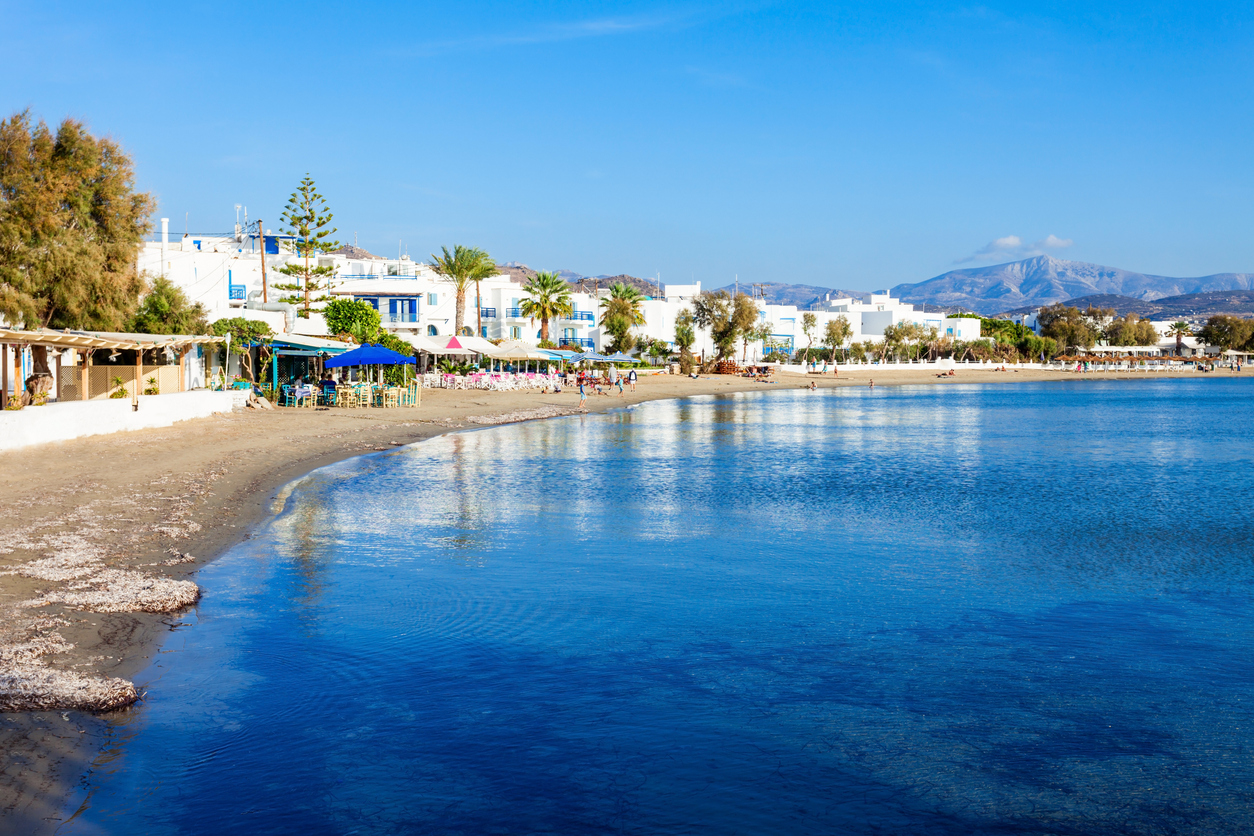 Naxos city beach, Greece