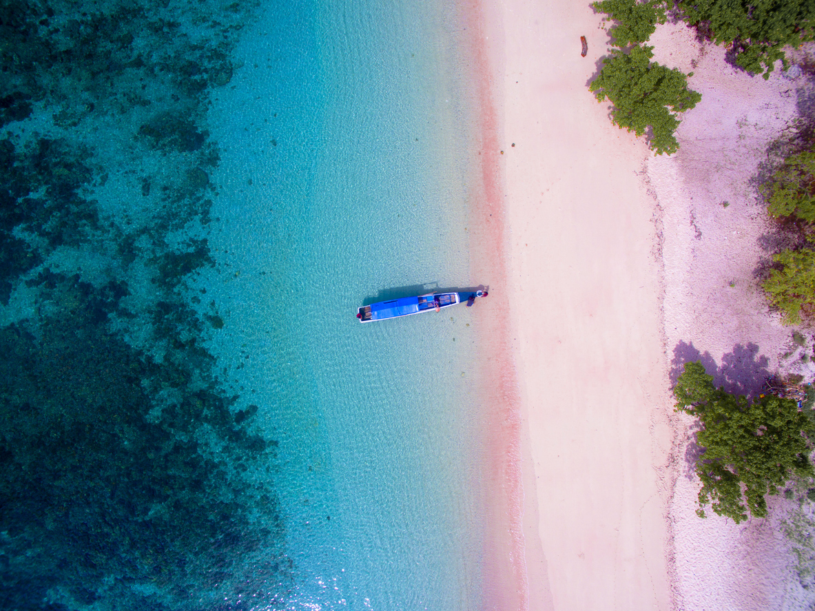 Pink Beach, Indonesia